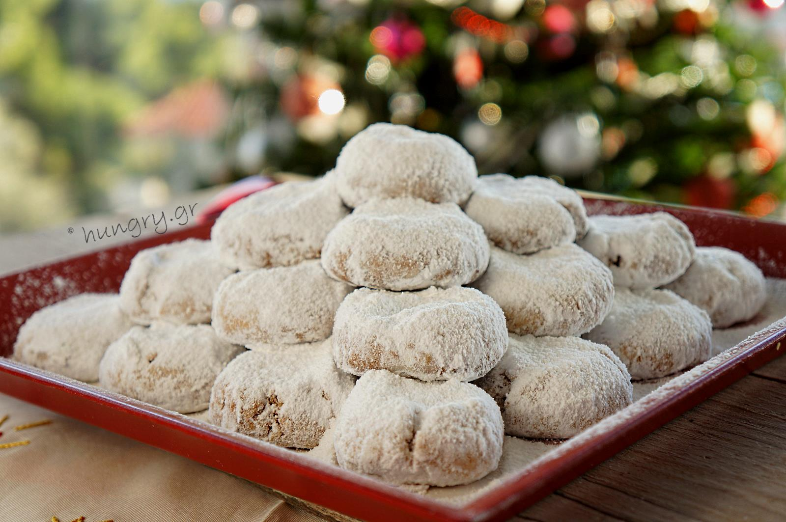 kourabiedes greek christmas butter cookies - Greek Christmas Food