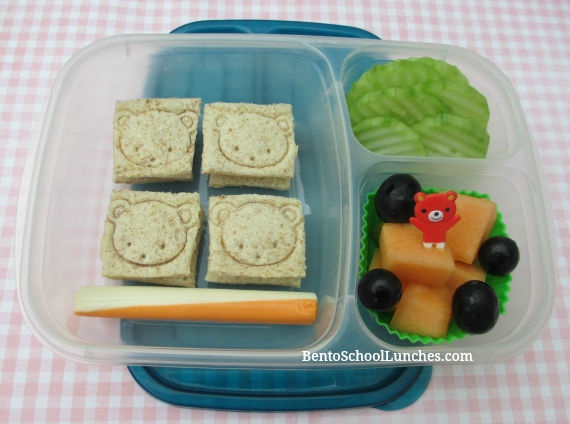 Square tea sandwiches, bento school lunches