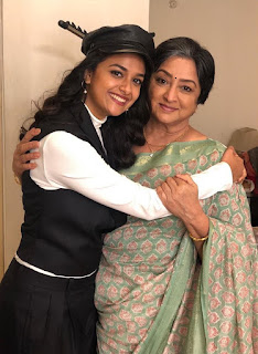 Keerthy Suresh with Cute Smile with Lakshmi Gaaru in Manmadhudu2