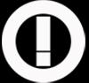 Logo tanda seru di dalam lingkaran