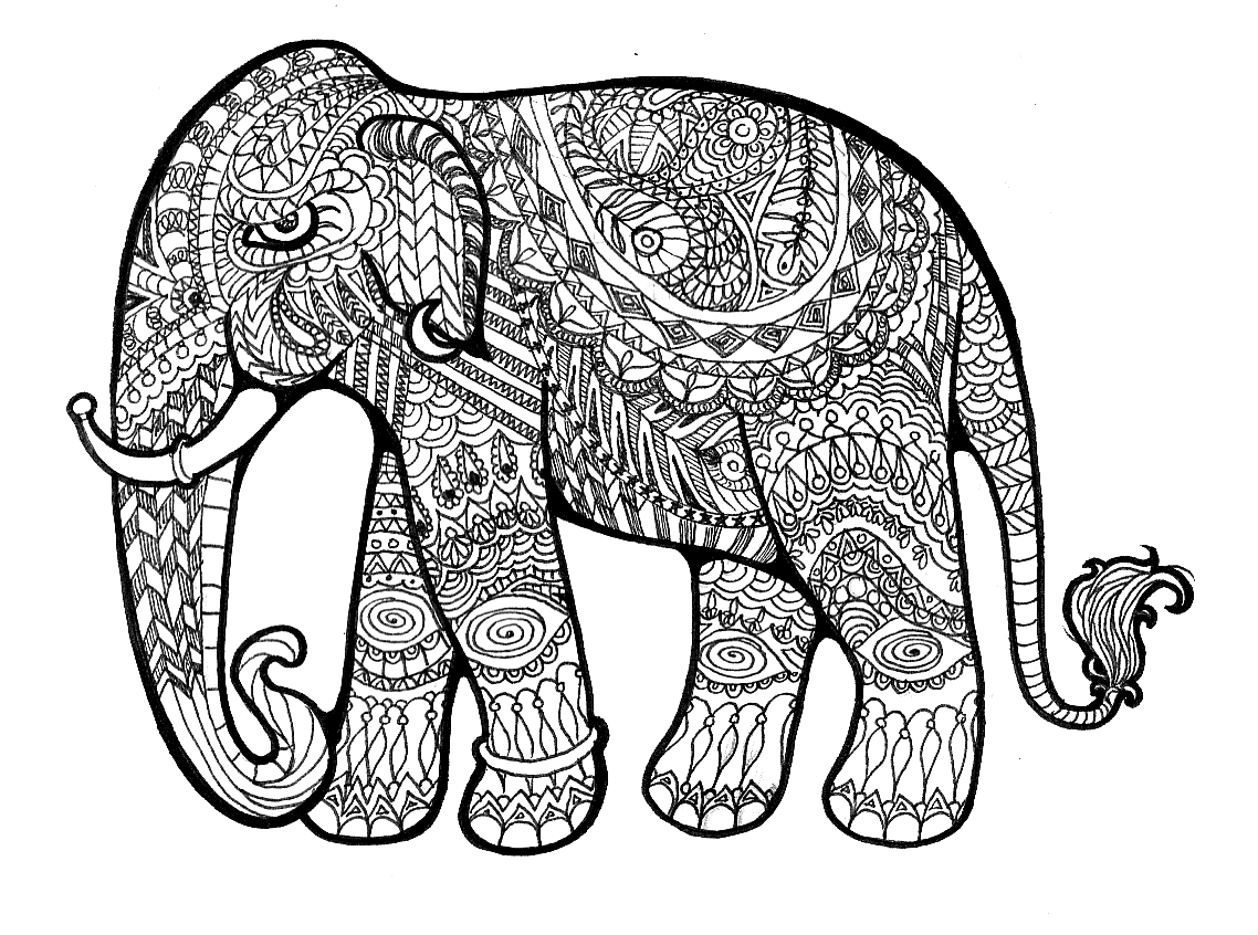 Coloring book pages of elephants - Coloring Book Pages Of Elephants