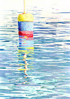 """Buoy Surreal IV"" - 14"" x 20"" - Watercolor By Paul Sherman"