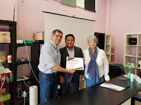 Fahmi Idris bersama pengarah urusan Dr Lauranne Itali, Dr Geatano