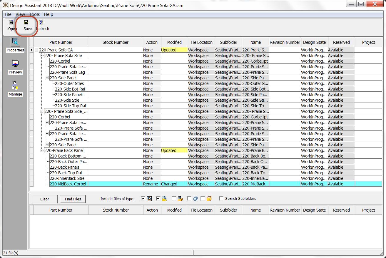 Renaming Files in Autodesk Inventor's Design Assistant