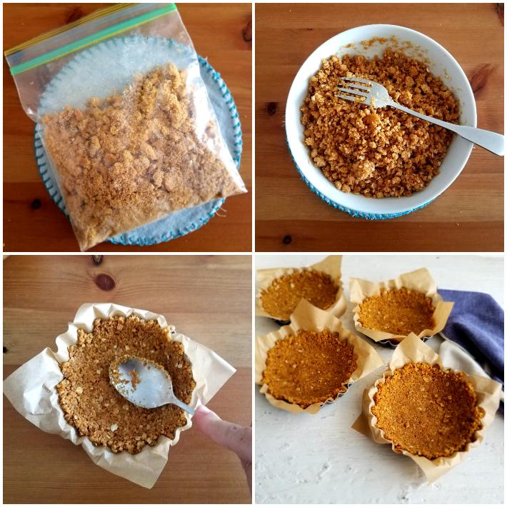 Cómo preparar la base de galletas de avena sin hornear
