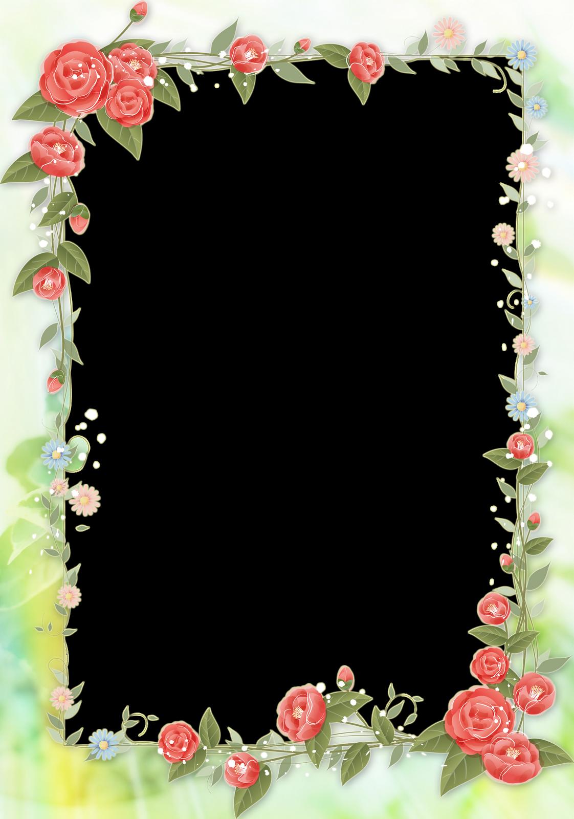 Photoshop Png Frames Wallpapers Designs Flower Frame Pack
