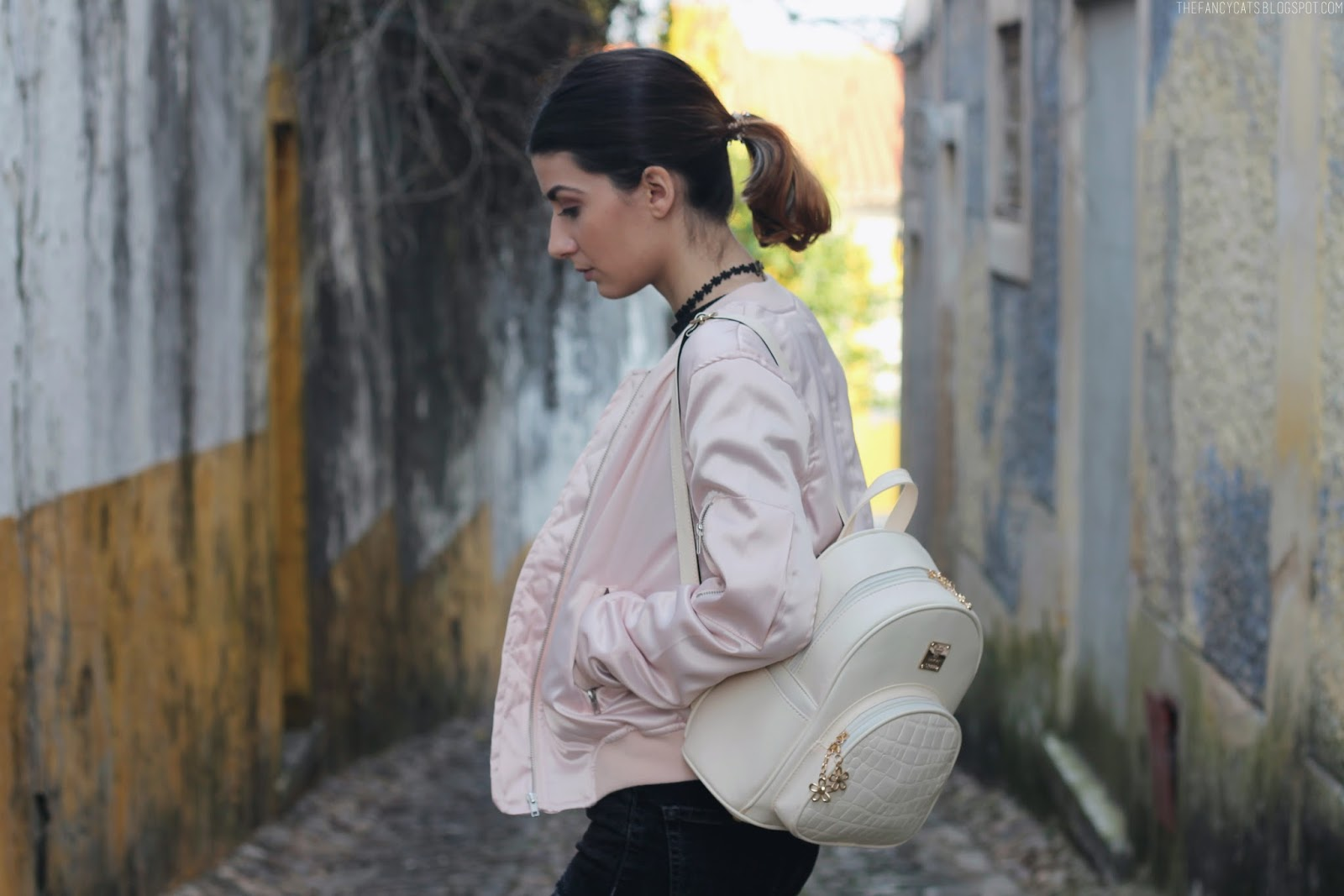 LOOK | Pastel Pink + All Black | The Fancy Cats