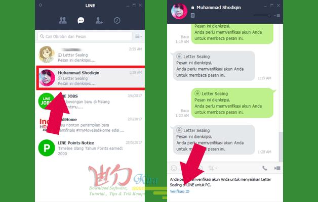 Cara mudah membuka kunci obrolan Line Messenger di PC wd-kira