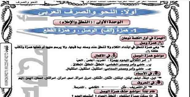 مذكرة نحو للثانوية العامة 2019 مستر محمد عز