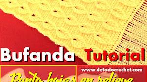 Hermosa Bufanda para tejer a Crochet / Tutorial en español