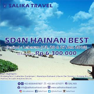 5D4N Hainan Best Buy Lebaran 2018 - Salika Travel