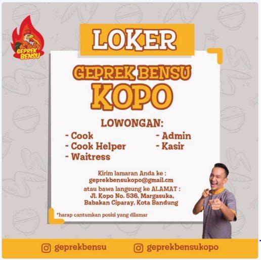 Loker Geprek Bensu Bandung