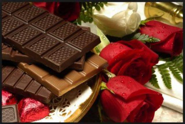 Pic Of Flowers And Chocolate