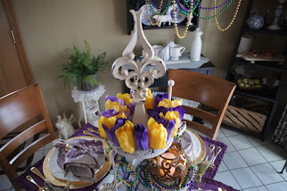 Nola Inspired Mardi Gras Tablescape