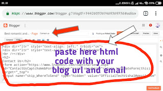How to create Contact us pages in blogger