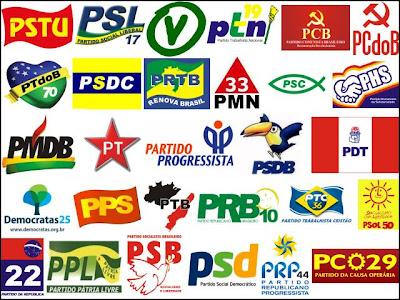 Resultado de imagem para partidos politicos brasileiros atuais