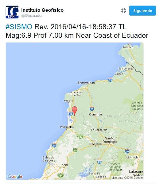 temblor en ecuador 16 abril 2016