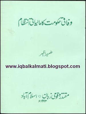 Wafaqi Hakoomat ka Maliyati Nizam by Zameer Azhar