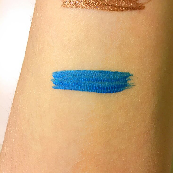 wet n wild Fantasy Makers megaliner Metallic Liquid Eyeliner Blue Moon swatch