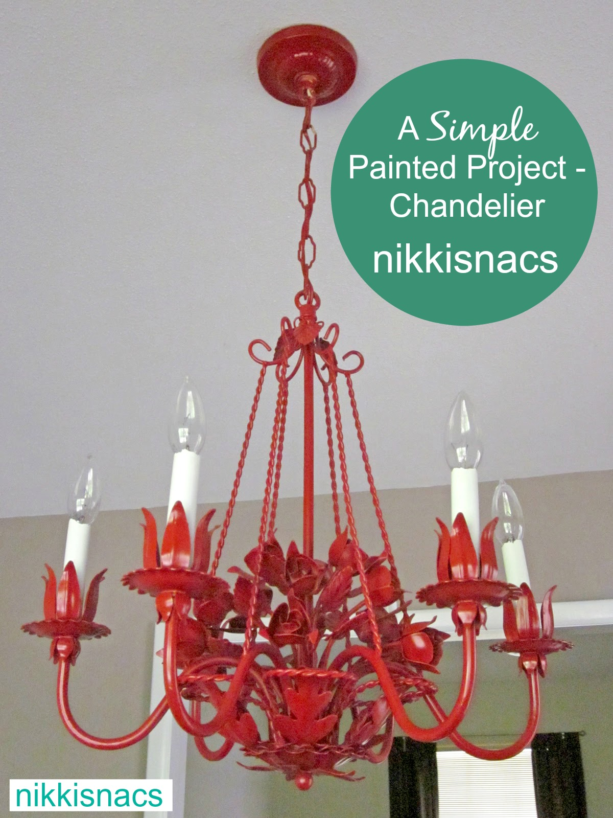31 Days Of Simple Painted Projects The Red Chandelier