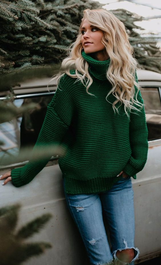 Fashion Casual Solid Color Sweater