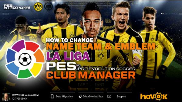 PES Club Manager : La Liga - Real Club Name And Club Emblem