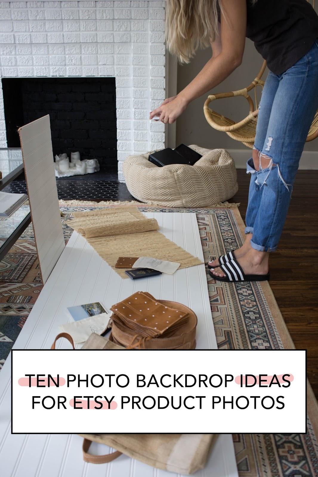 10 Photo Backdrop Ideas For Etsy Product Photos