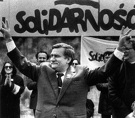 Lech Walesa. Trade Union leader who challenged Poland's communist government. Eventually became President of Poland in its post-communist years.