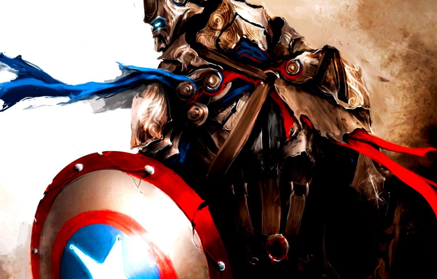 captain america Full HD Background 1680x1050