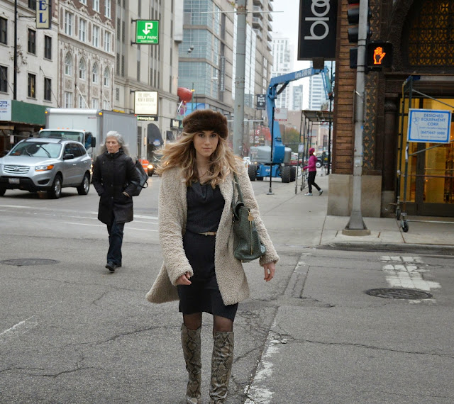 chicago winter, style, fashion, fur, girl