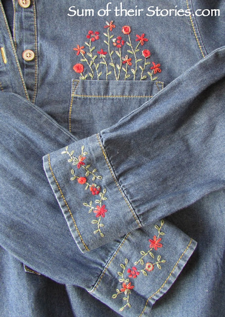 embroidery shirt refashion