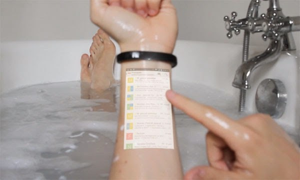 Cicret bracelet - make your skin your new tablet