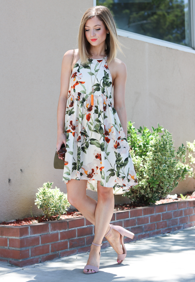 tropical summer floral dress
