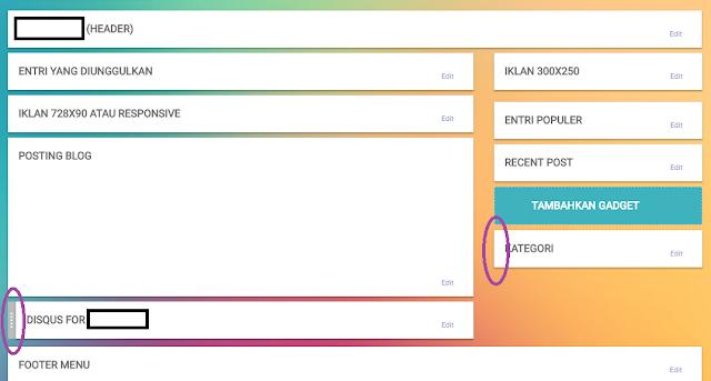 perbedaan widget bisa dipindahkan dan dihapus