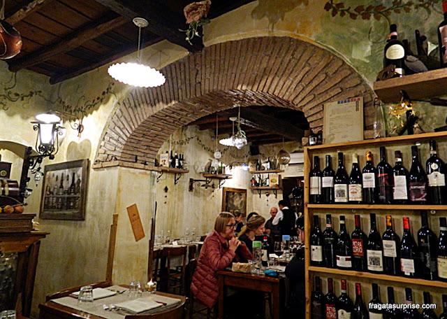 Restaurante Dar Sor Olimpio al Drago, Trastevere, Roma