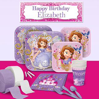 Sofia the First Party Pack. Pieces can also be purchased individually.