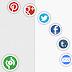 كود اضافة ازرار المشاركة عبر الشبكات الاجتماعية عائمة