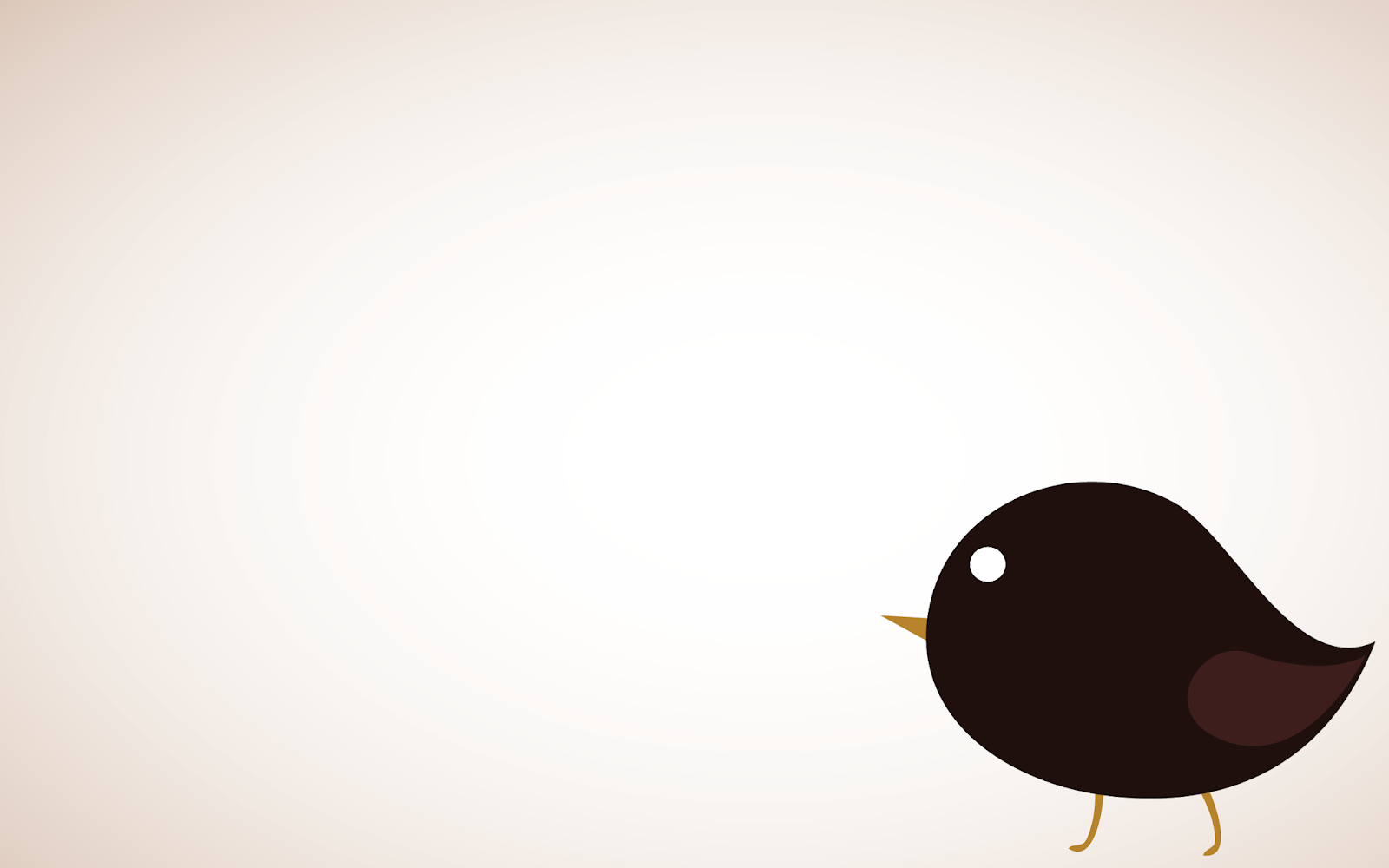 Cartoon bird PowerPoint background
