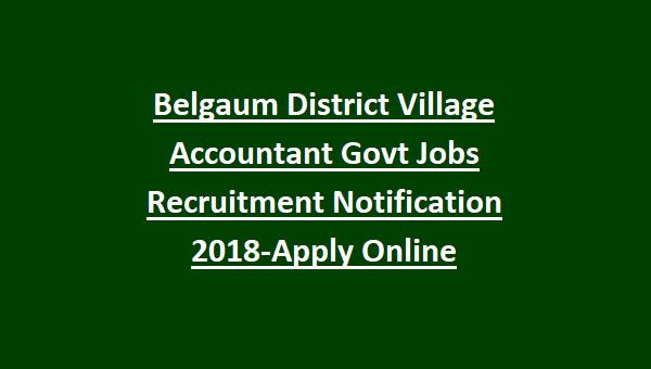 Belgaum District Village Accountant Govt Jobs Recruitment