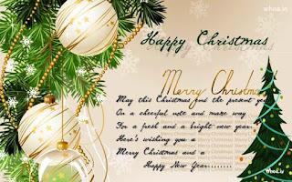 Kartu Ucapan Natal Merry Christmas 8006