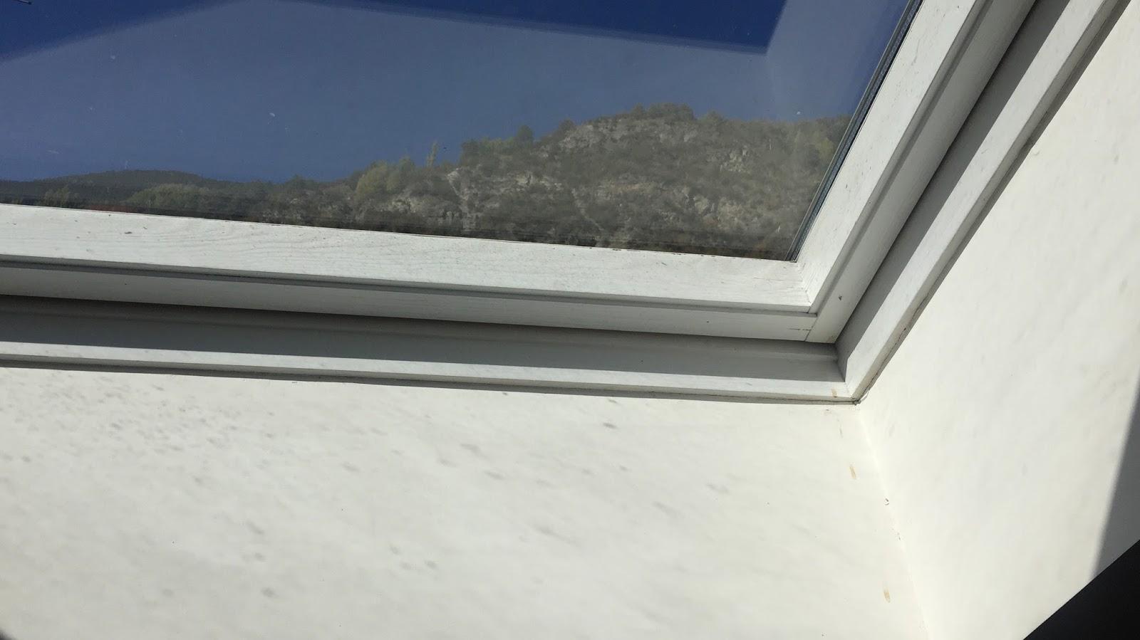 Rehabilitaci pintura i renovaci de finestra tipus velux for Renovacio oficina de treball