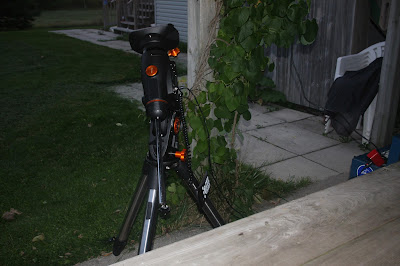 Celestron CGEM equatorial mount being tested - 2 hours in