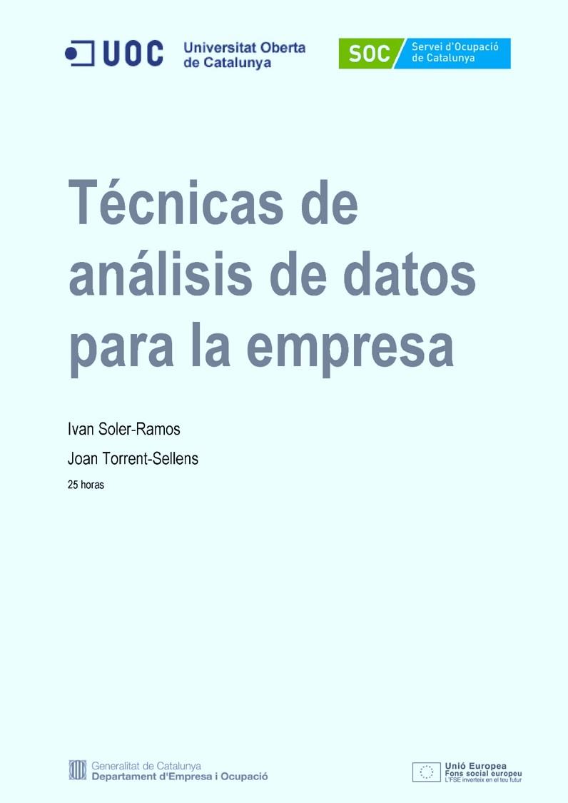 Técnicas de análisis de datos para la empresa