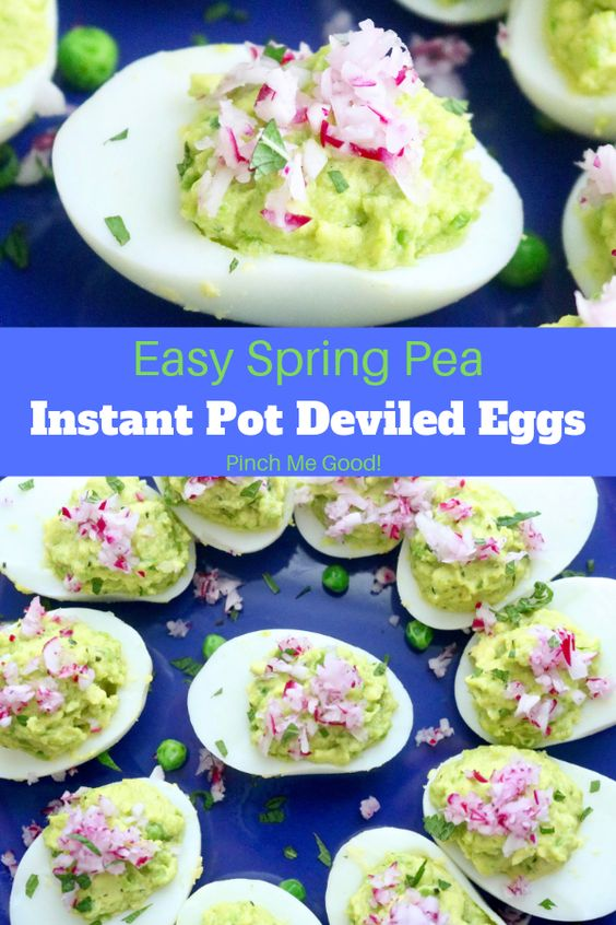 Easy #Spring #Pea #Deviled #Eggs