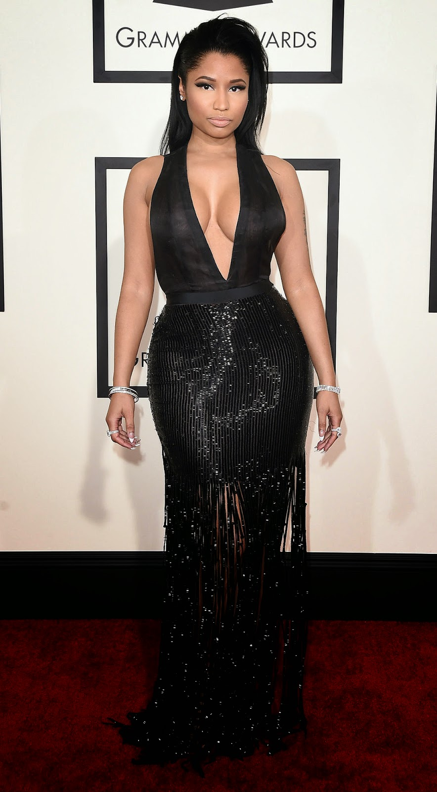 Nicki Minaj 2015 Grammy Red Carpet