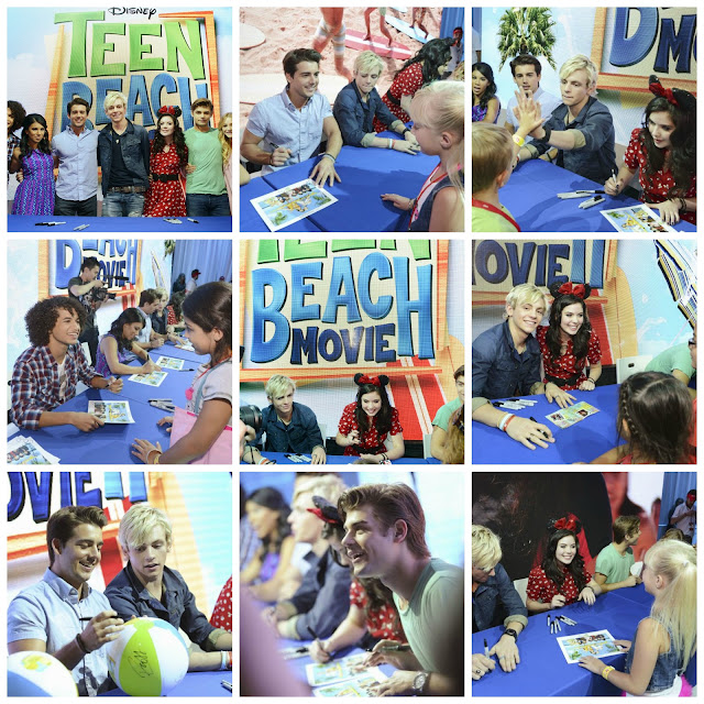 The stars of Disney Channel's Teen Beach Movie signed autographs