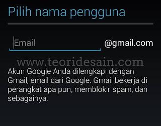 Daftar Gmail Terbaru Lewat Smartphone Android langkah ke 6