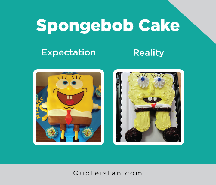 Expectation Vs Reality: Spongebob Cake