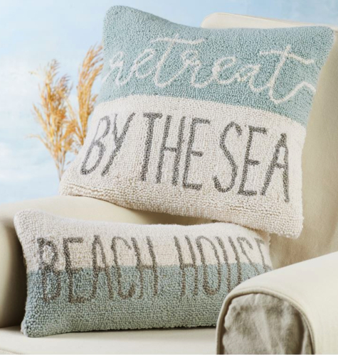 Hook Beach Pillows Wool