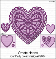 ODBD Custom Ornate Hearts Dies